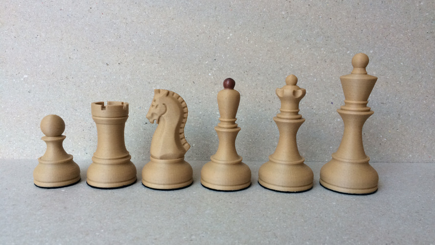 Dubrovnik Style Chess Set 3D Print 25408