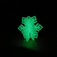 Small MkrClub Snowflake - 3-part tree ornament/decoration 3D Printing 25419