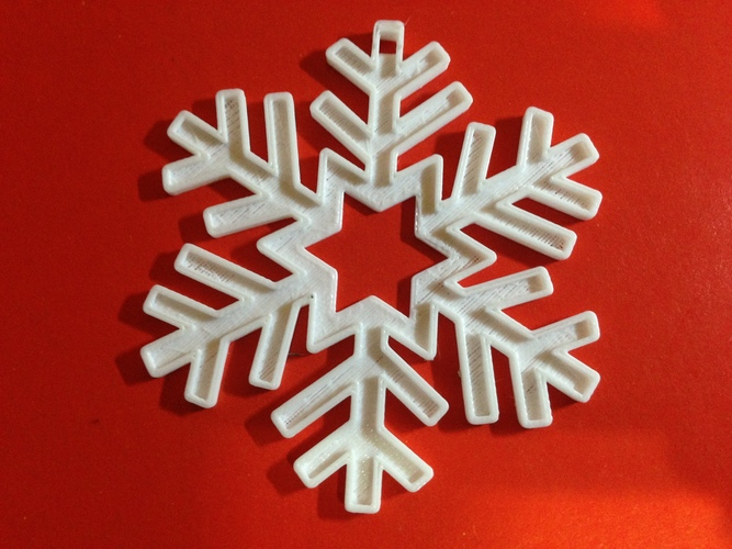 Snowflake-Holiday ornaments 3D Print 25423