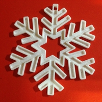 Small Snowflake-Holiday ornaments 3D Printing 25423