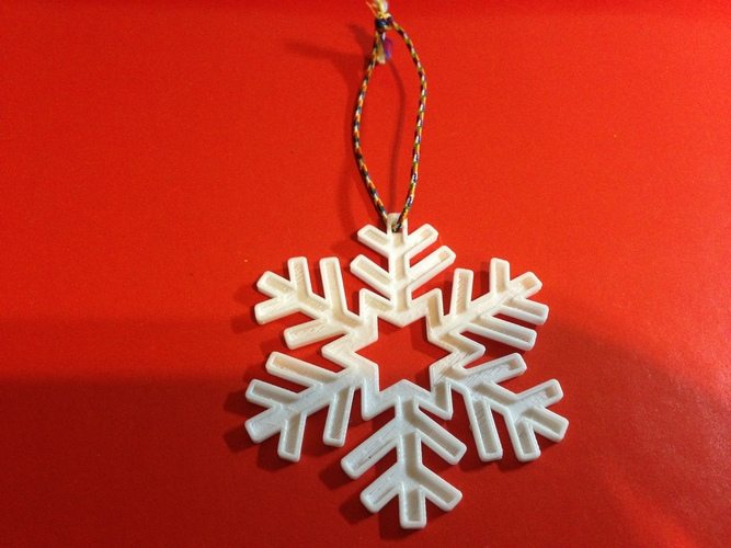 Snowflake-Holiday ornaments 3D Print 25424