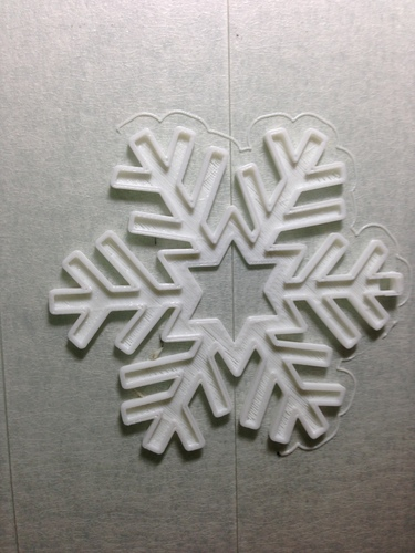 Snowflake-Holiday ornaments 3D Print 25425
