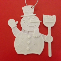 Small Snowman-Holiday Ornaments 3D Printing 25427