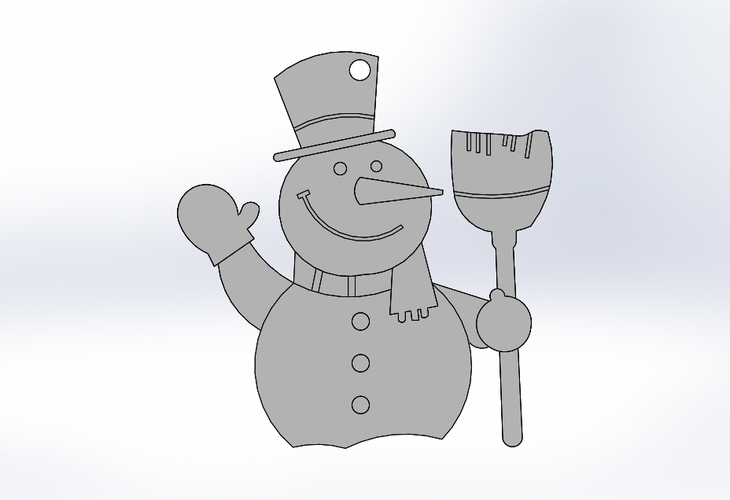 Snowman-Holiday Ornaments 3D Print 25430