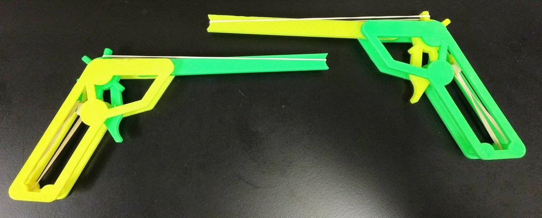 Rubber band gun - no screws required 3D Print 25468