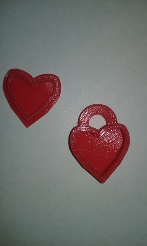Heart Locket Slic3r Friendly 3D Print 25488