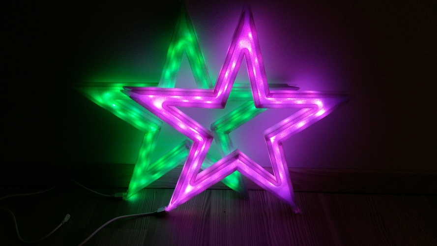 Vega - The LED-lit Christmas Star 3D Print 25525