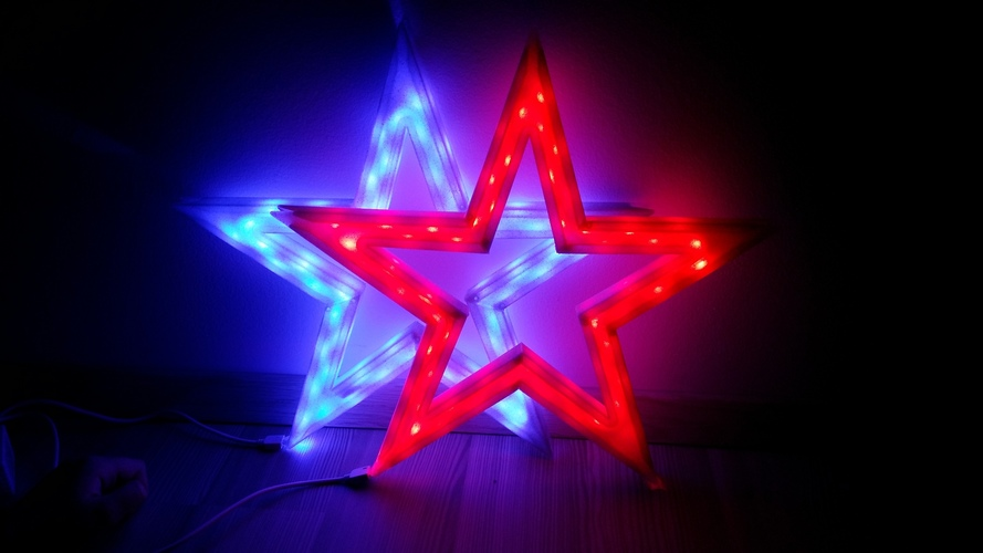 Vega - The LED-lit Christmas Star 3D Print 25526