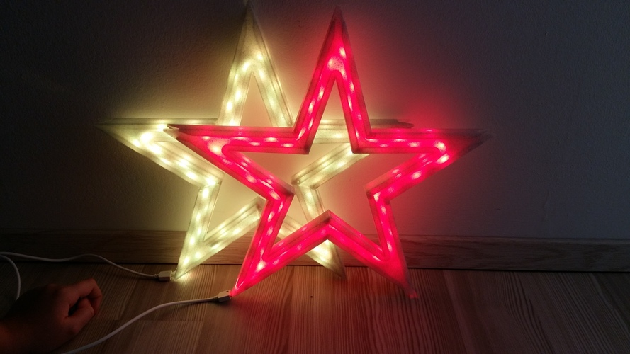 Vega - The LED-lit Christmas Star 3D Print 25527