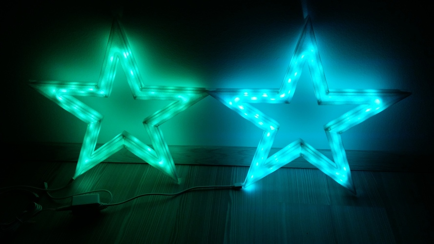 Vega - The LED-lit Christmas Star 3D Print 25528