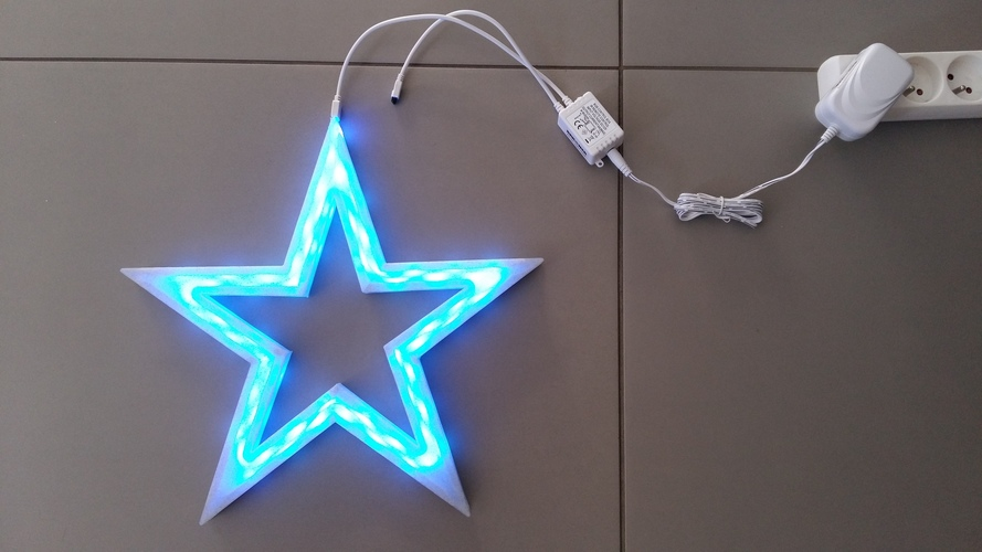 Vega - The LED-lit Christmas Star 3D Print 25529
