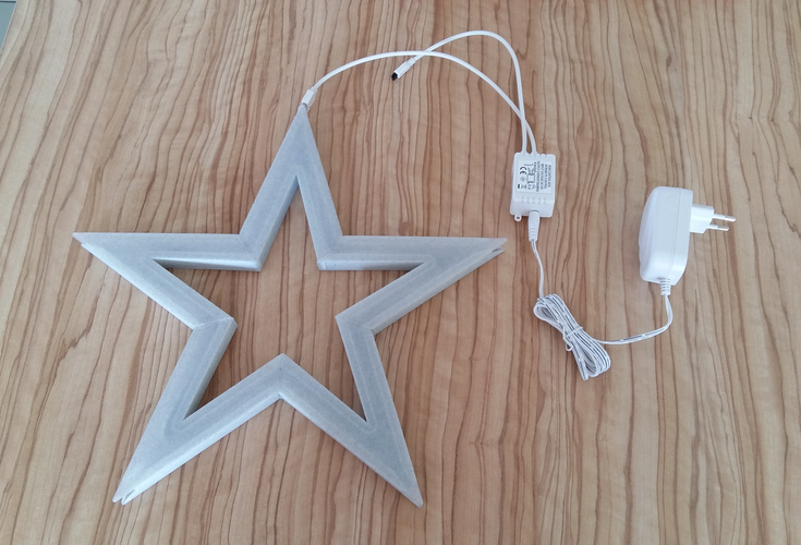 Vega - The LED-lit Christmas Star 3D Print 25530