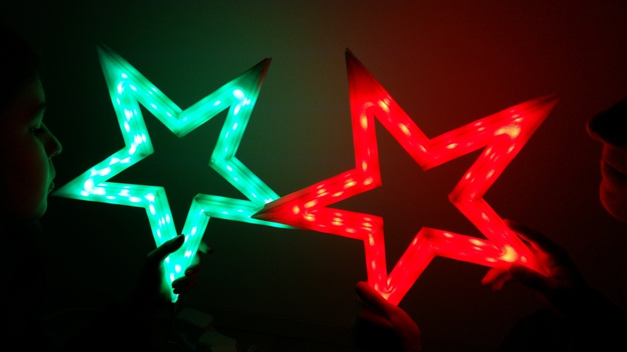 Vega - The LED-lit Christmas Star 3D Print 25531