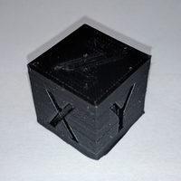 Small XYZ 20mm Calibration Cube 3D Printing 25551