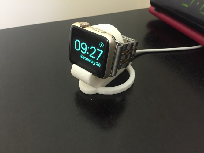 Apple Watch 38 & 42mm charging bedside clock stand 3D Print 25621