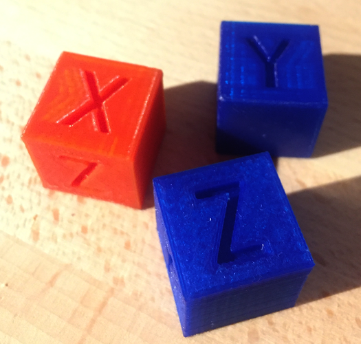 XYZ 20mm Calibration Cube 3D Print 25626