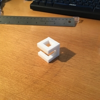 Small 9GAG Cubed Logo 3D Printing 25641