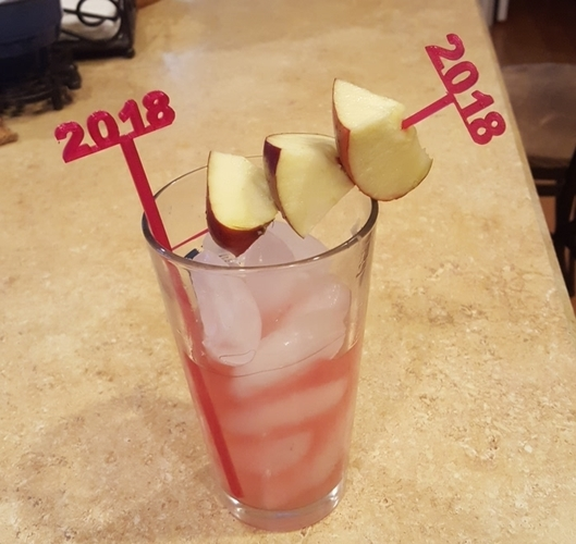 2018 New Years Party Picks and Swizzle Sticks 3D Print 25646