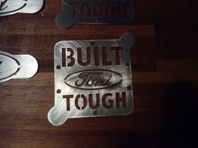 """BUILT FORD TOUGH"" coffee art stencil 3D Print 25755"