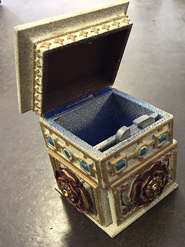 Tudor Rose Box Redesigned hinge with pin   3D Print 25947