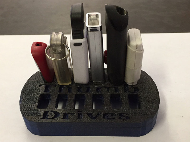 12 Slot Thumb Drive Holder 3D Print 25967