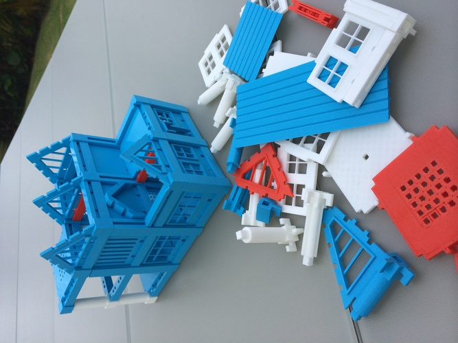​Printable Architectural Kit Series 2 3D Print 260