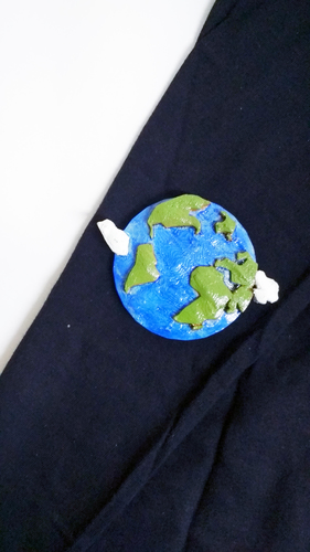 Earth Brooch 3D Print 26046