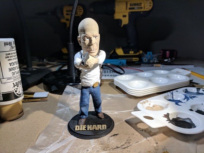 Bruce Willis DIE HARD 3D Print 26077