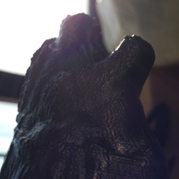 Small Godzilla Head Wall Mount ((Updated)) 3D Printing 2608