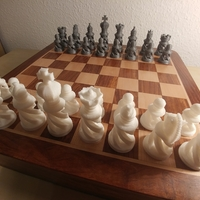 Small Spiral Chess Set (Large) 3D Printing 26100