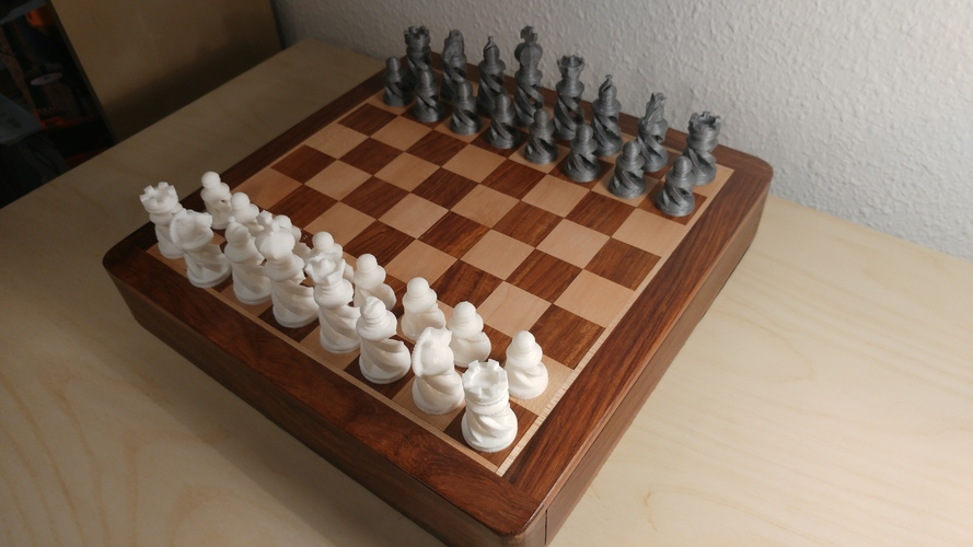 Spiral Chess Set (Large) 3D Print 26102
