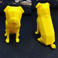 Small Low-poly Pug 3D Printing 26126