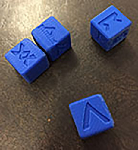 6 Sided Norse Runic Dice Set of 4 3D Print 26232