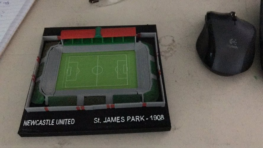 Newcastle United - St James Park 1908 3D Print 26302