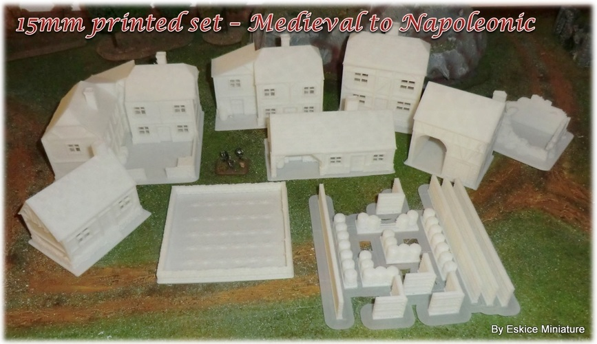 Ruined house - Wargame medieval to napoleonic 3D Print 26389