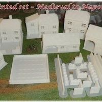 Small Ruined house - Wargame medieval to napoleonic 3D Printing 26389