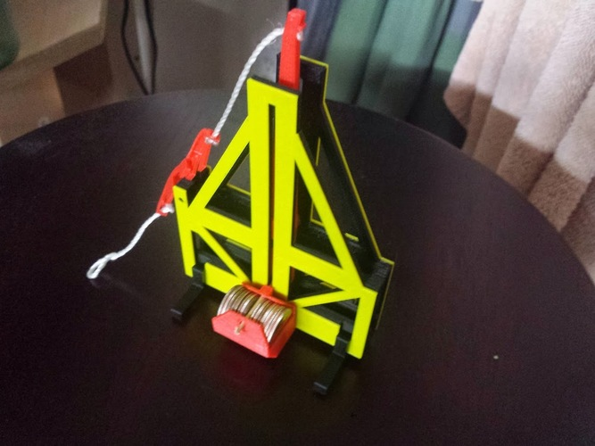 Floating arm trebuchet (dimes and pennies) 3D Print 264