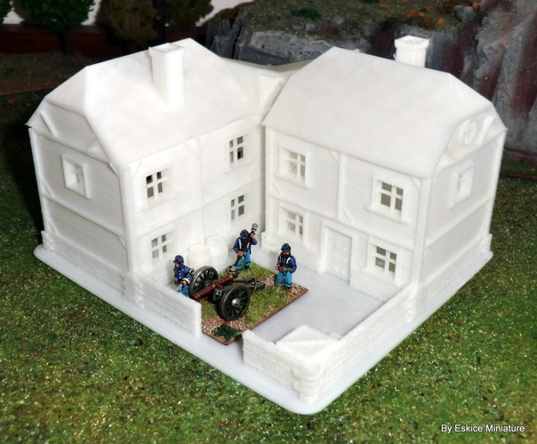 Big house - Wargame medieval to napoleonic 3D Print 26448