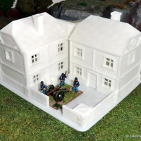 Small Big house - Wargame medieval to napoleonic 3D Printing 26448