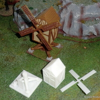 Small Windmill - Wargame medieval to napoleonic 3D Printing 26449