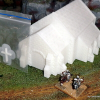 Small Church - Wargame medieval to napoleonic 3D Printing 26451