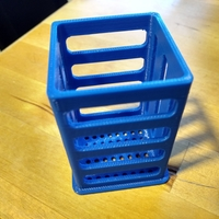 "Small Pen/Pencil Holder - 2"" x 2"" x 3"" - Simple Slotted Design 3D Printing 26508"