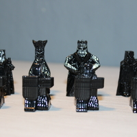 Small warriors chess set/ juego de ajedrez guerreros 3D Printing 26586
