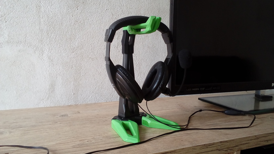 Headset Holder/Support - Gaming Design - Futuristic 3D Print 26624