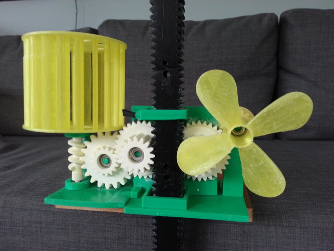 Wind Energy Stored In Gravity 3D Print 26713