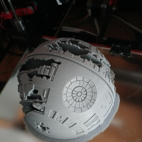 Small Death Star Wall Lamp (Star Wars) 3D Printing 26811