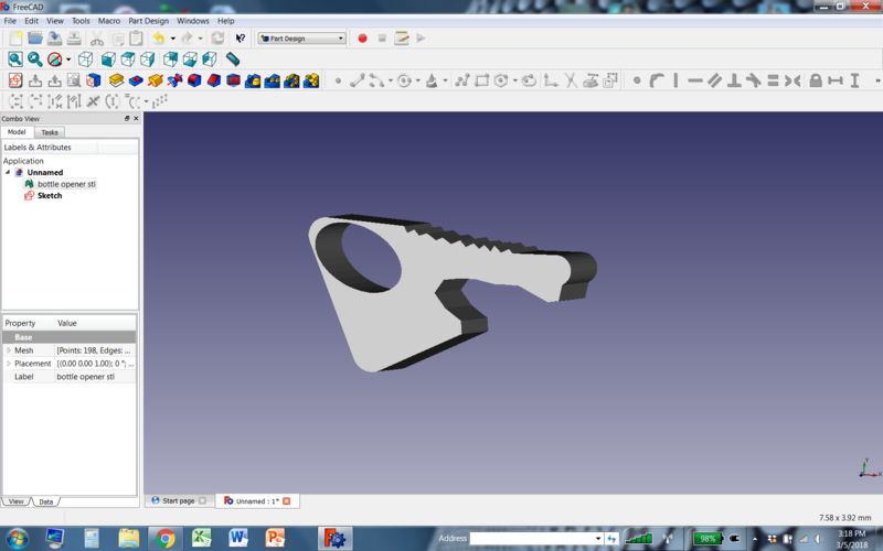 bottle opener with key hole 3D Print 26814
