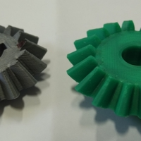 Small Bevel Gears 5/6 3D Printing 26833