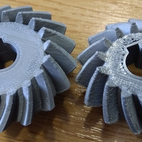 Small Bevel Gears 5/6 3D Printing 26851