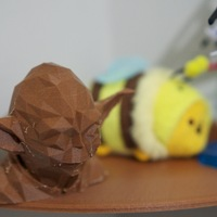 Small Low Poly Yoda 3D Printing 2691
